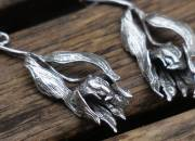 Silver Flower Earrings 4