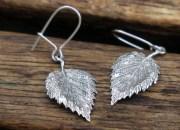 Silver Leaf Earrings 2