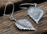 Silver Leaf Earrings 4