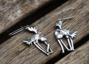 Sterling Silver Moose Earrings 2