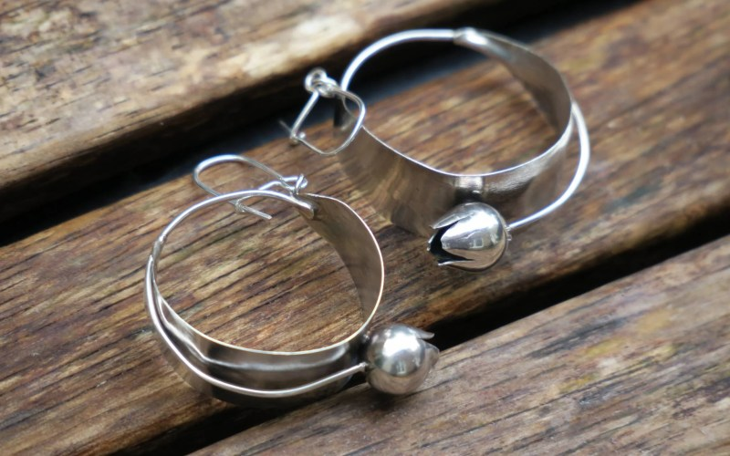 Sterling Silver Tulip Earrings 1
