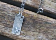 Raw Silver Bee Necklace 4