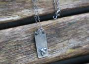 Raw Silver Bee Necklace 5