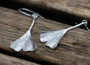 Silver Botanical Earrings 3