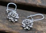 Silver Flower Earrings 2