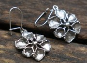 Silver Flower Earrings 2