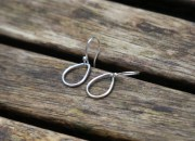 Silver Teardrop Earrings 7