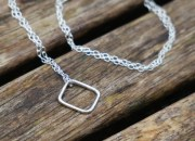 Sterling Silver Square Necklace 4