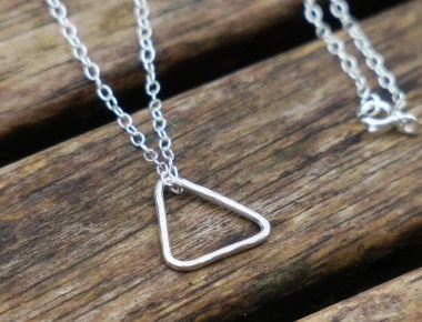 Sterling Silver Triangle Necklace 1