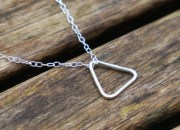 Sterling Silver Triangle Necklace 2