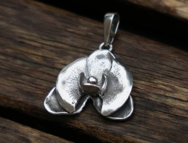 Sterling Silver Orchid Pendant 1