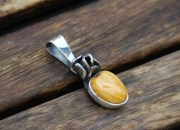 Silver Amber Pendant 4