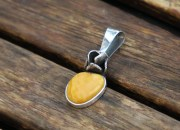 Silver Amber Pendant 5