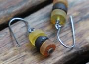 Raw Amber Earrings 3