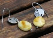 Silver Amber Earrings 2