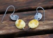 Silver Amber Earrings 3