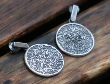 Silver Circle Earrings 1
