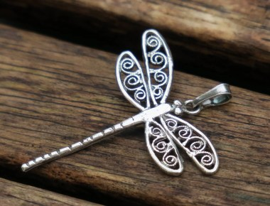 Silver Dragonfly Pendant 1