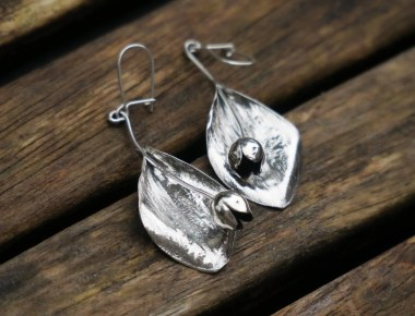 Silver Tulip Earrings 1