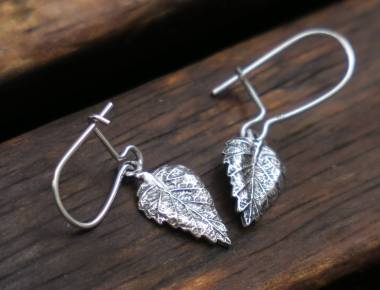 Small Leaf Dangle Earrings 1