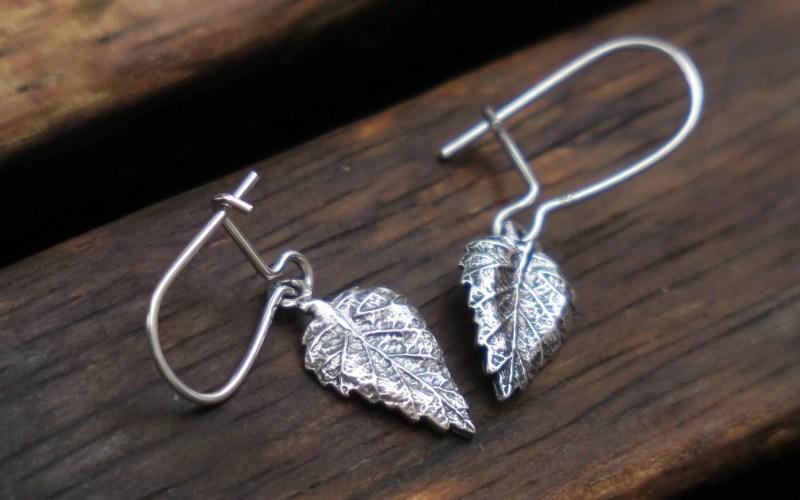 Small Leaf Dangle Earrings 1