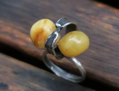Statement Amber Ring 2