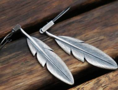 Sterling Silover Feather Earrings 1