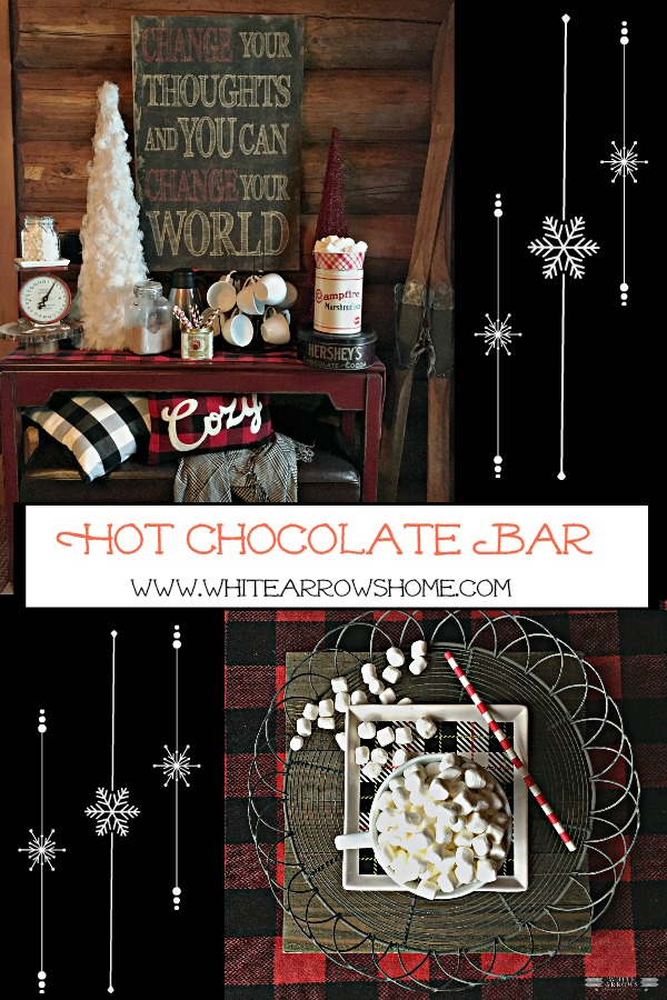 Hot Chocoalate Bar, Snowflakes, hot chocolate, marshmallows