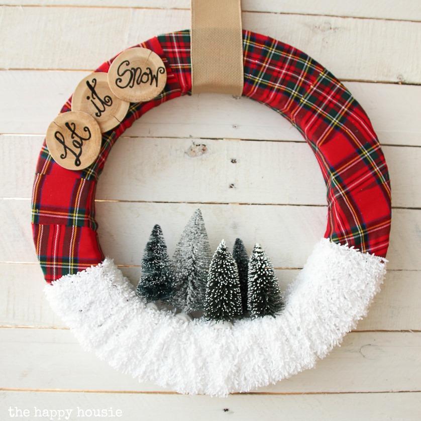 Christmas wreath plaid