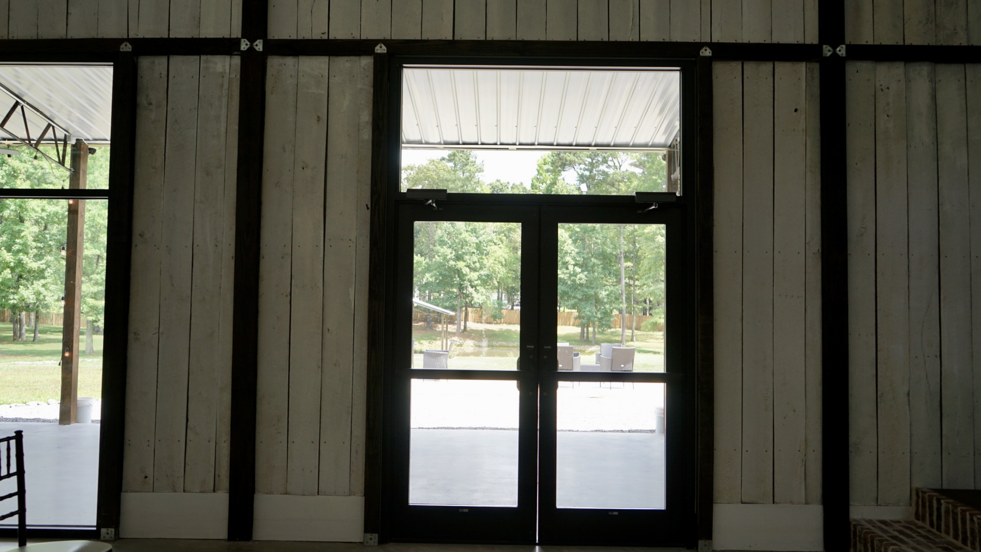 Doors that exit to patio from ceremony area