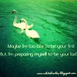 Cinta Pertama atau Cinta Terakhir?