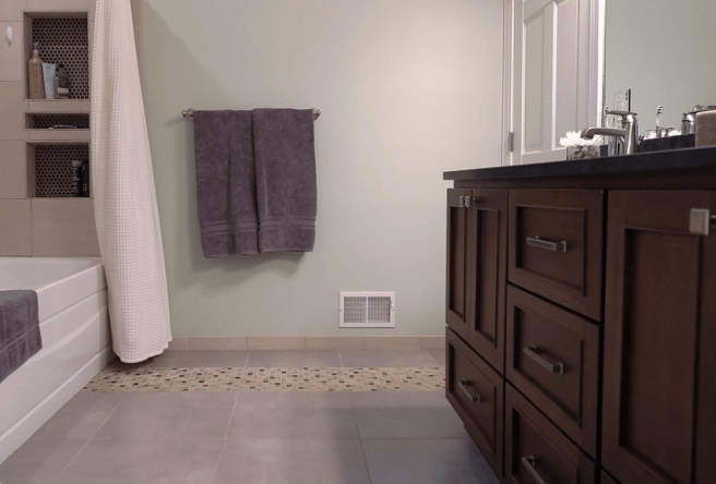 Bathroom Remodel by Minnesota CKBR certified remodeler White Birch Design