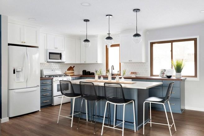 Oversized island for baking - kitchen design Lakeville MN