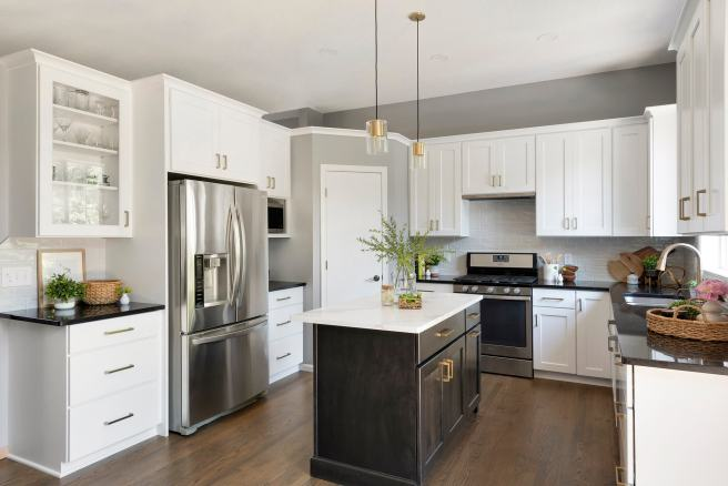 Lakeville MN kitchen remodel Black Kitchen Island