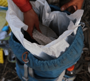 trash compactor bags for hiking