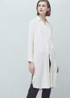 white long textured shirt mango