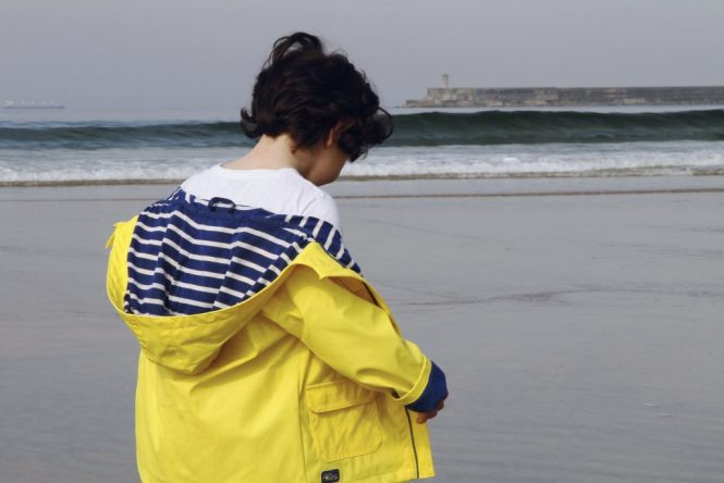 little light house coat in yellow boys