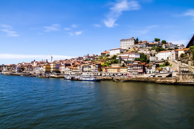 View of Porto and Douro River from Gaia - Porto, Portugal