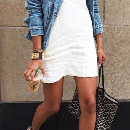 transition summer wardrobe into Autumn - denim jacket