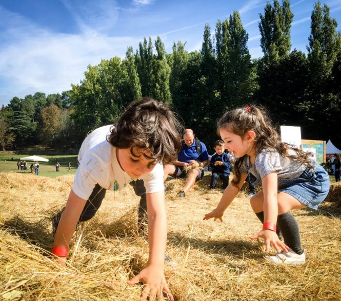 Autumn fest Serralves - playing with straw