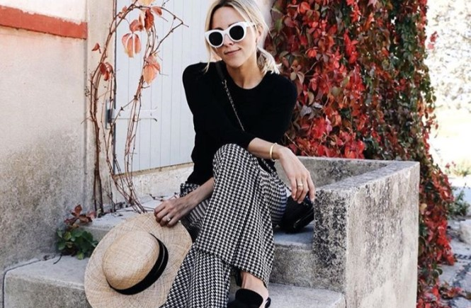 Fashion Fix Friday: Houndstooth knitted wide leg pants