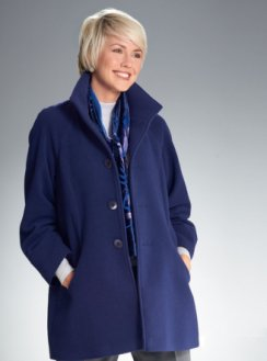 Luxury Contemporary Coat in iris