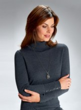 Softest Merino Rollneck Jumper in charcoal
