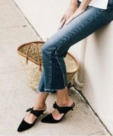how to wear mules with jeans and basket bag