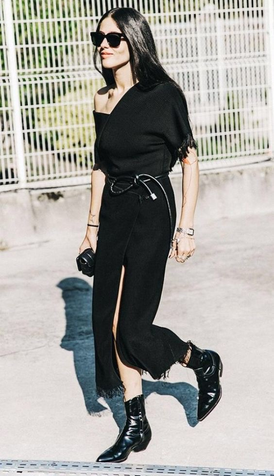 How to wear cowboy boots - all black