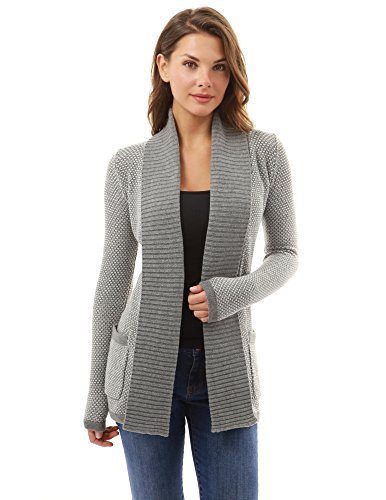 PattyBoutik Women Open Front Marled Sweater Cardigan