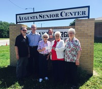 On May 25, 2017, White Eagle presented the Augusta Senior Center with a check to help them continue their outreach to the community.