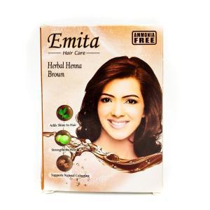 """Хна для волос Еmita """"Коричневый"""" 60 г"""