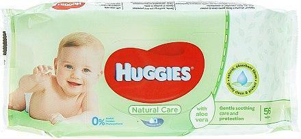 Салфетки влажные 56шт Huggies Baby Natural Care Aloe Vera