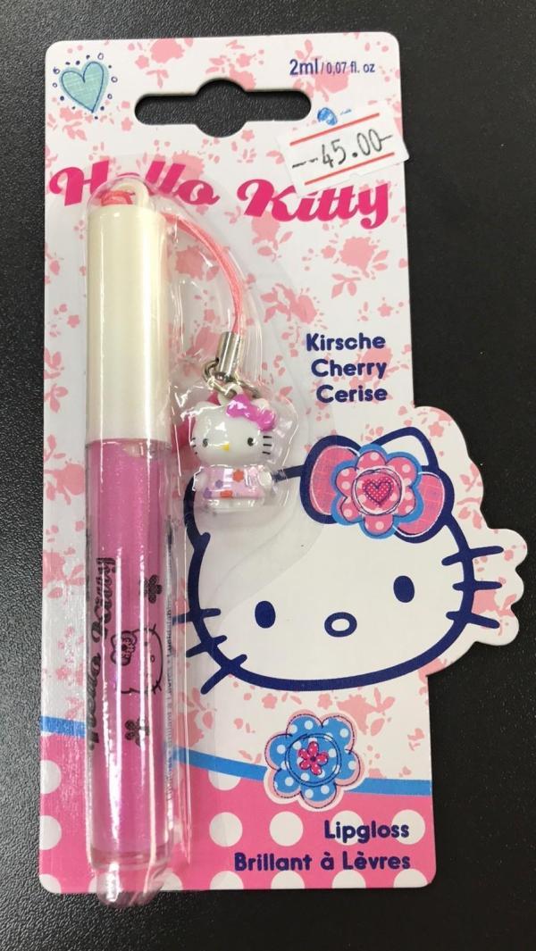 Блеск для губ + подвеска Hello Kitty Lipgloss 2мл Cherry